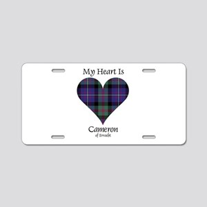 Heart - Cameron of Erracht Aluminum License Plate