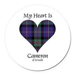 Heart - Cameron of Erracht Round Car Magnet