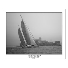 Small Black and White Sailing Posters