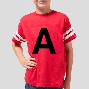 helvetica_a_black Youth Football Shirt