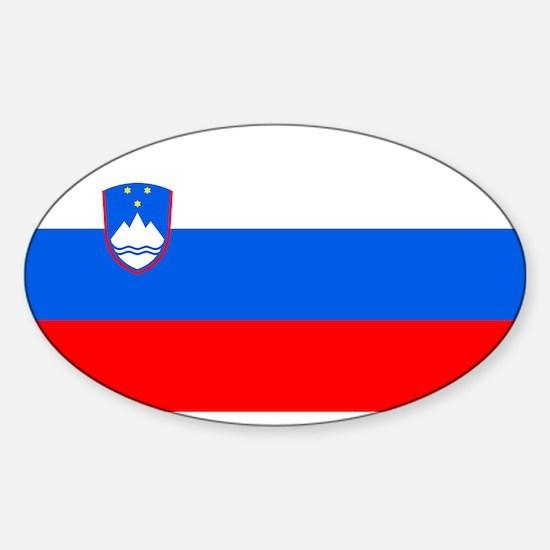 Flag of Slovenia Oval Decal