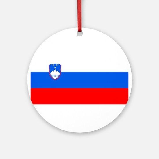 Flag of Slovenia Ornament (Round)