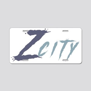 Z City Aluminum License Plate