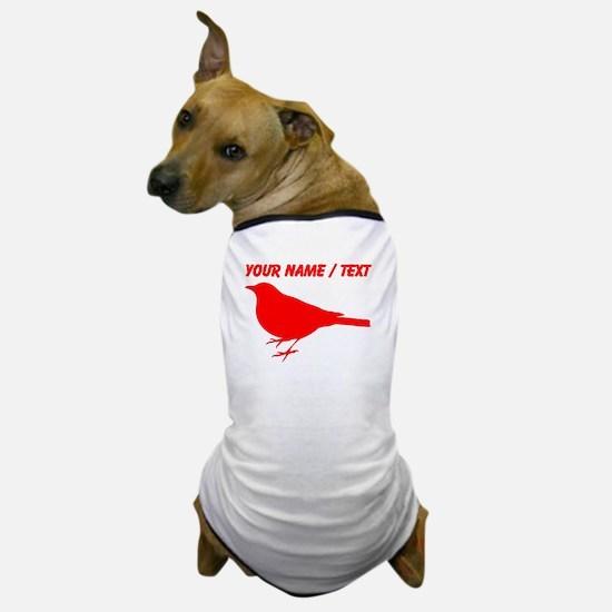 Custom Red Robin Silhouette Dog T-Shirt