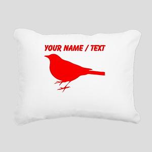 Custom Red Robin Silhouette Rectangular Canvas Pil