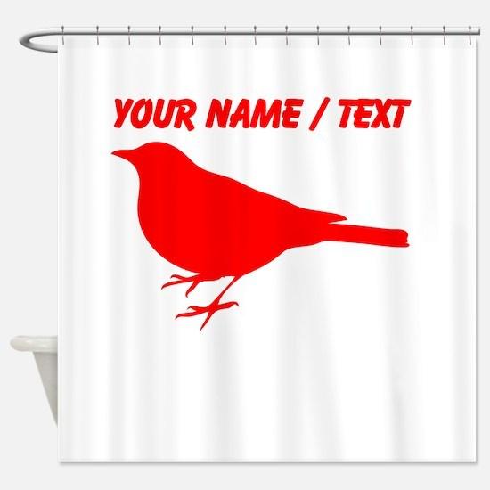 Custom Red Robin Silhouette Shower Curtain