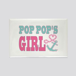 Pop Pops Girl Boat Anchor and Heart Magnets