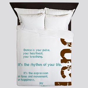 Dance the Rhythm of your Life Queen Duvet