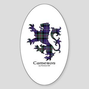 Lion - Cameron of Erracht Sticker (Oval)