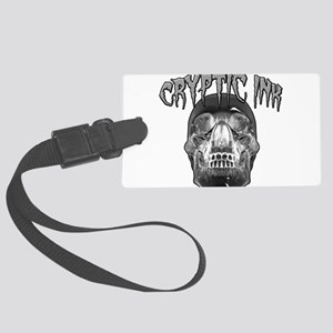 Cryptic Ink Crystal Skull Large Luggage Tag