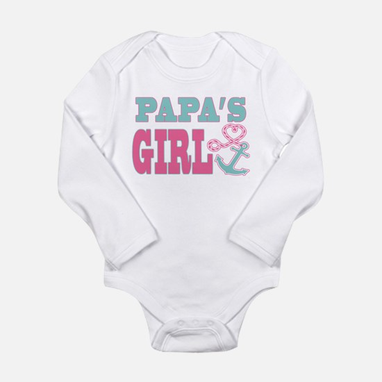 Papas Girl Boat Anchor and Heart Body Suit