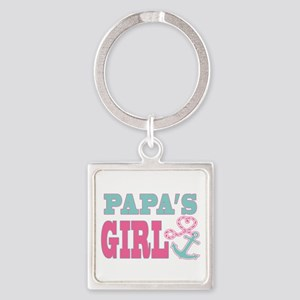 Papas Girl Boat Anchor and Heart Keychains