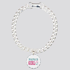 Papas Girl Boat Anchor and Heart Bracelet
