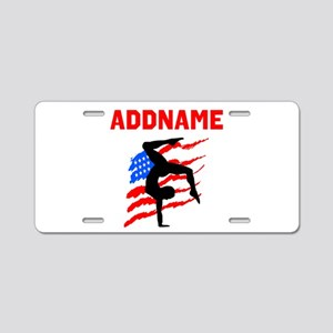 GRACEFUL GYMNAST Aluminum License Plate