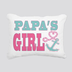 Papas Girl Boat Anchor and Heart Rectangular Canva