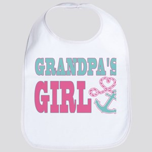 Grandpas Girl Boat Anchor and Heart Bib