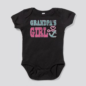Grandpas Girl Boat Anchor and Heart Baby Bodysuit