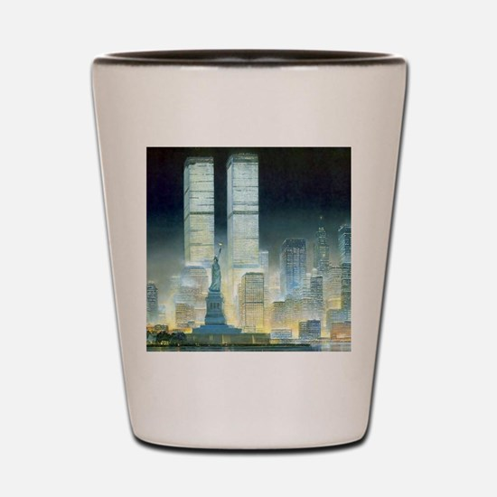 Twin Towers Shot Glass