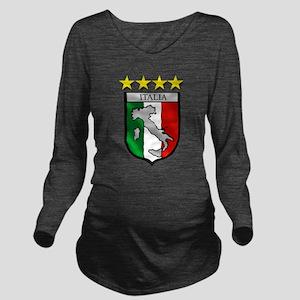 Italia Shield Long Sleeve Maternity T-Shirt