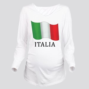 Italia Flag Long Sleeve Maternity T-Shirt