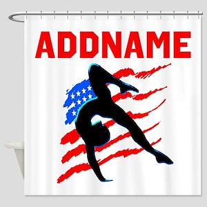 USA #1 GYMNAST Shower Curtain