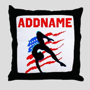 USA #1 GYMNAST Throw Pillow