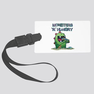 Monsters are hungry Large Luggage Tag