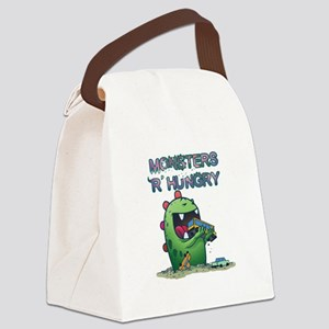 Monsters are hungry Canvas Lunch Bag