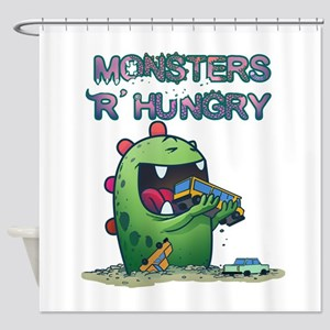 Monsters are hungry Shower Curtain