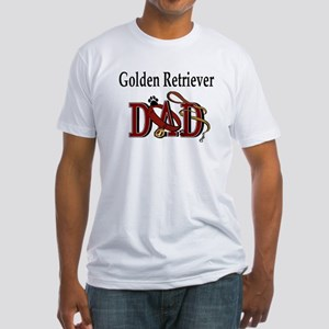 Golden Retriever Dad Fitted T-Shirt