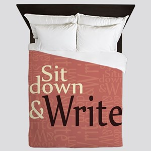 Sit Down and Write Queen Duvet