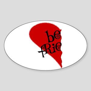 Best Friends Oval Sticker