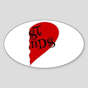 Best Friends (2) Oval Sticker