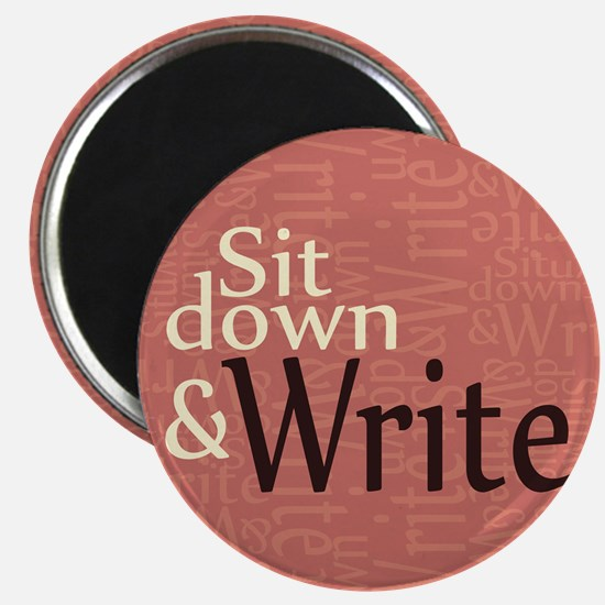 """Sit Down and Write 2.25"""" Magnet (100 pack)"""