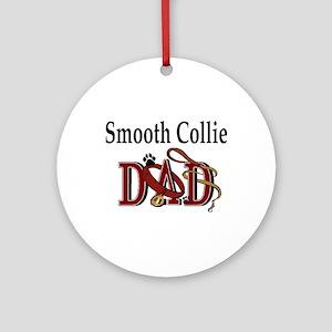 Smooth Collie Dad Ornament (Round)