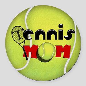 Tennis Mom Round Car Magnet
