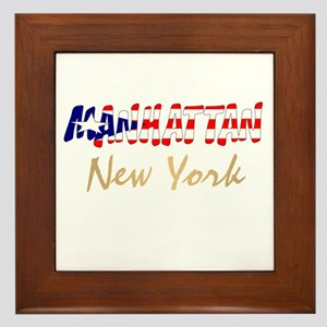 Boricua Manhattan, New York Framed Tile