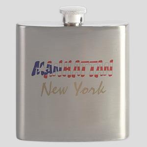 Boricua Manhattan, New York Flask