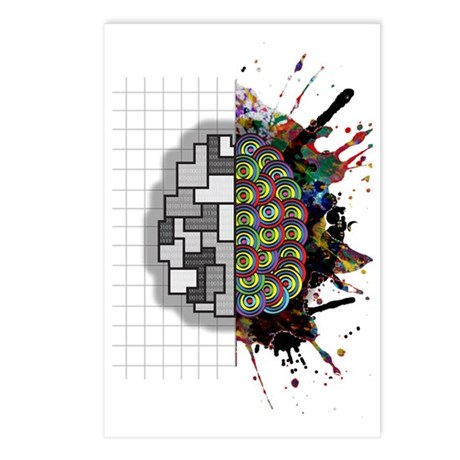 Left & Right brain Postcards (Package of 8)