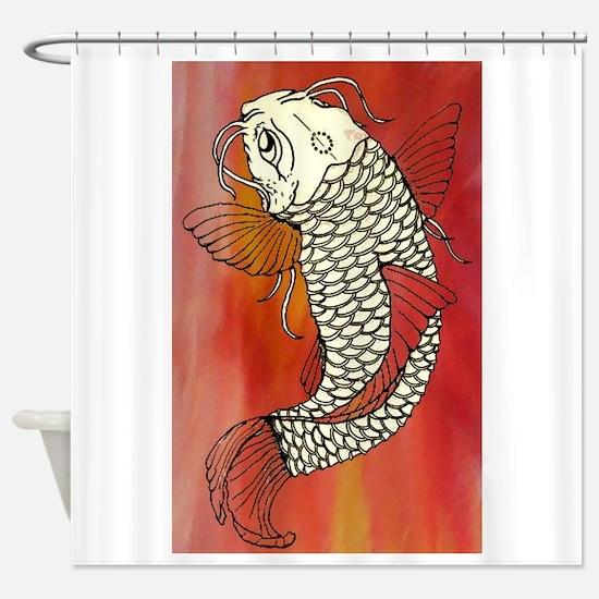 Red Koi Shower Curtain