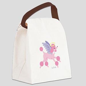Angel Poodle Canvas Lunch Bag