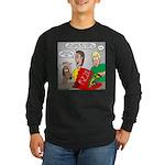 Pizza Dog Long Sleeve Dark T-Shirt