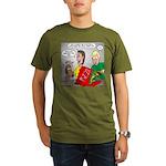 Pizza Dog Organic Men's T-Shirt (dark)