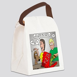 Pizza Dog Canvas Lunch Bag