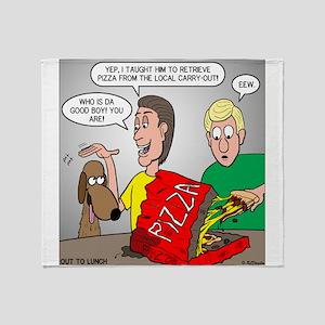 Pizza Dog Throw Blanket