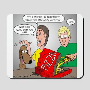 Pizza Dog Mousepad
