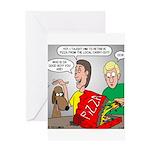 Pizza Dog Greeting Card
