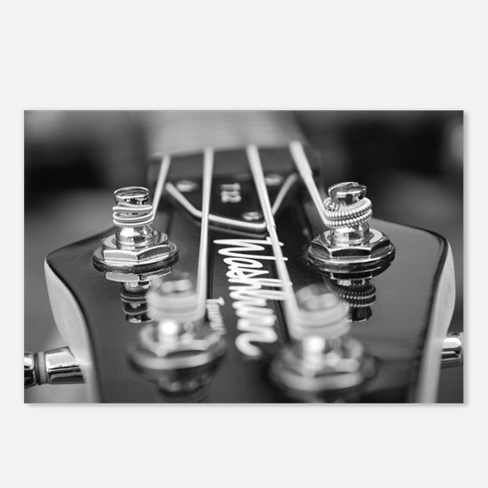Washburn Bass Guitar blac Postcards (Package of 8)
