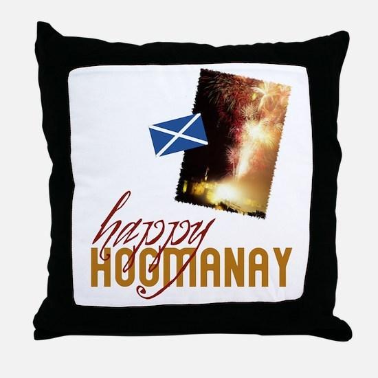 Hogmanay Throw Pillow