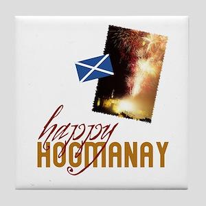 Hogmanay Tile Coaster